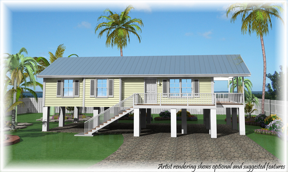 Base price fees options and credits of our homes for Concrete homes florida