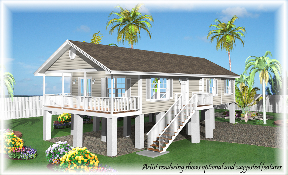 Base price fees options and credits of our homes for Stilt home designs